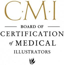 Certified Medical Illustrator from BCMI logo